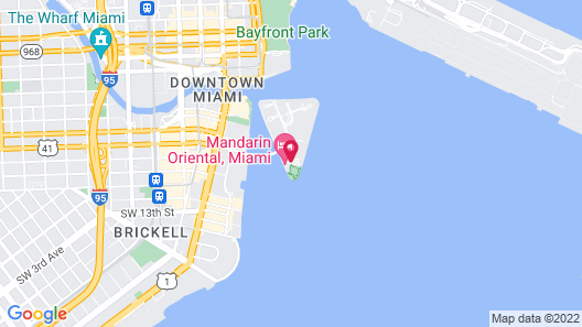 Mandarin Oriental, Miami Map