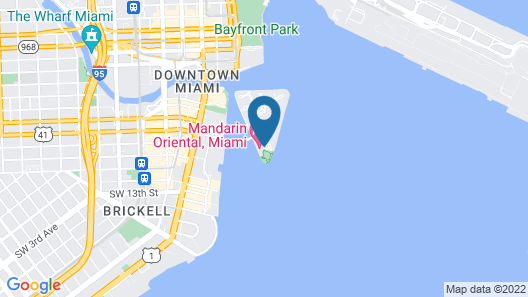 Mandarin Oriental, Miami Map