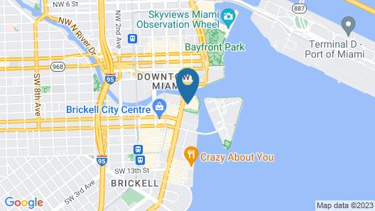 Icon Brickell Miami T-3 Map