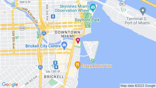 Miami Vacation Rentals - Brickell Map