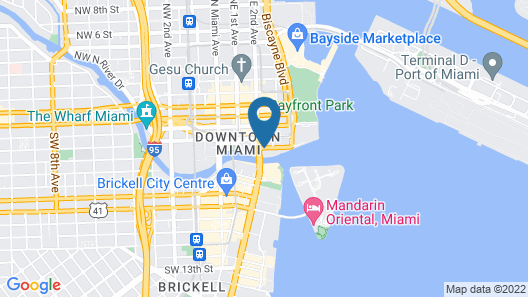 JW Marriott Marquis Miami Map