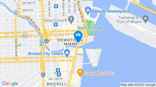 JW Marriott Marquis Miami Map