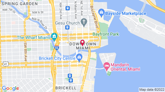 Comfort Inn & Suites Downtown Brickell - Port of Miami Map