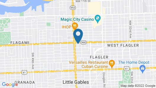 Best Western Premier Miami Intl Airport Hotel & Suites Coral Gables Map