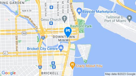 Hyatt Regency Miami Map
