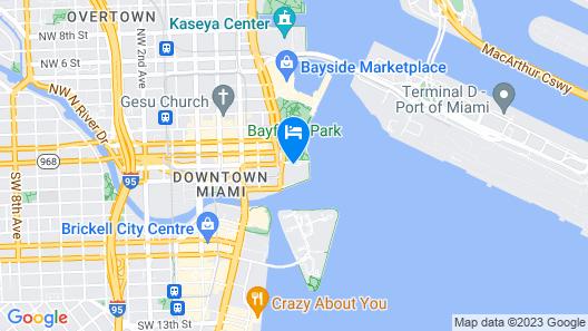 InterContinental Miami, an IHG Hotel Map