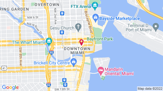 Courtyard by Marriott Miami Downtown Map