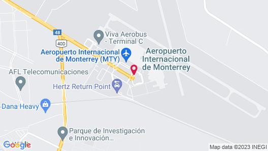 Hilton Garden Inn Monterrey Airport Map