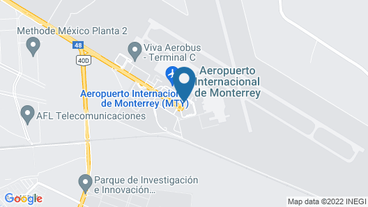 Hilton Garden Inn Monterrey Airport, Nueve Leon, Mexico Map