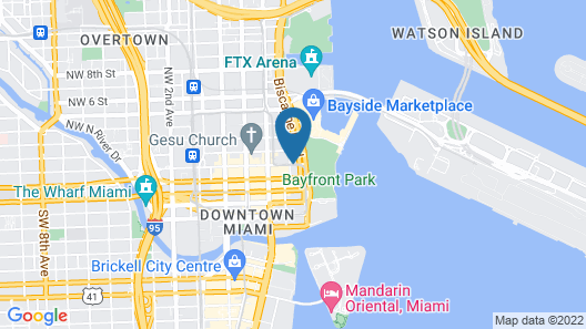 Leamington Hotel-Downtown/Port Of Miami Map