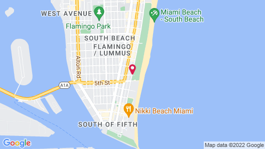 Beach Park Hotel Map