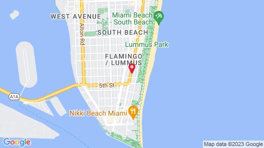 Metropole Suites South Beach, a South Beach Group Hotel Map