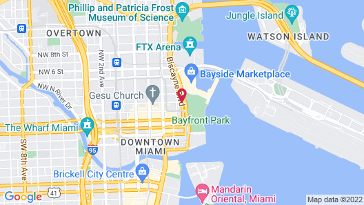 YVE Hotel Miami Map