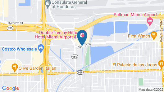 DoubleTree by Hilton Hotel Miami Airport & Convention Center Map