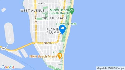 Beacon Hotel South Beach Map