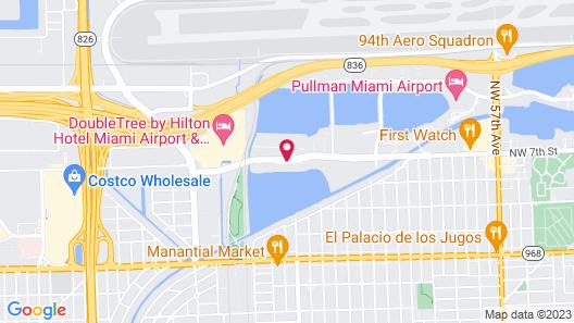 Cambria Hotel Miami Airport - Blue Lagoon Map