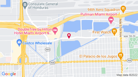 SpringHill Suites by Marriott Miami Airport South Map