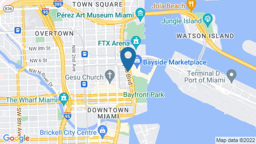 Holiday Inn Port of Miami - Downtown Map
