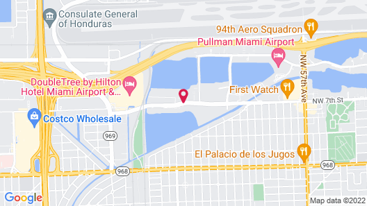 Extended Stay America - Miami - Airport - Blue Lagoon Map