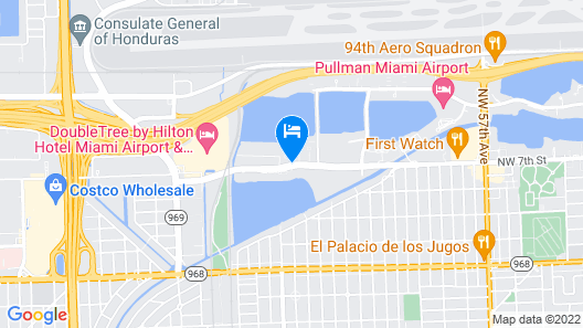 Extended Stay America Suites Miami Airport Blue Lagoon Map
