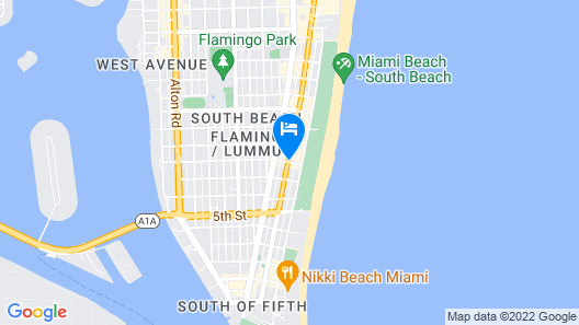 The Hotel of South Beach Map