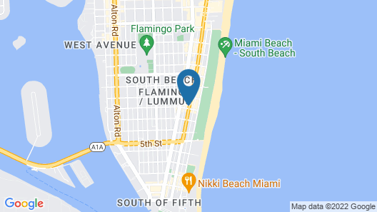 The Whitelaw Hotel, a South Beach Group Hotel Map