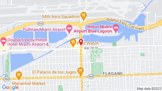 Hampton Inn & Suites - Miami-Airport South/Blue Lagoon Map