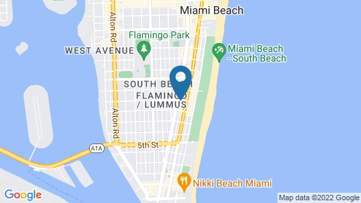 South Beach Rooms and Hostel Map