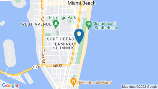 Hotel Breakwater South Beach Map