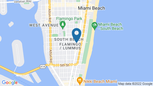 Hotel Chelsea, a South Beach Group Hotel Map