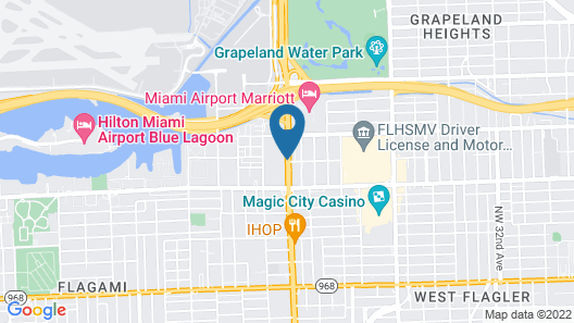 Crowne Plaza Miami Airport Map