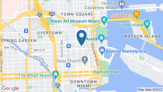 Global Luxury Suites Downtown Miami Map