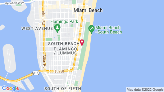 Clevelander Hotel – Adults Only Map