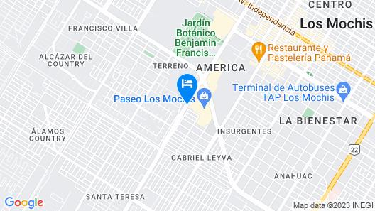 Fiesta Inn Los Mochis Map
