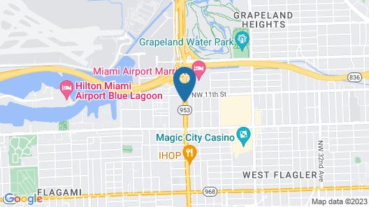 Regency Miami Airport Map