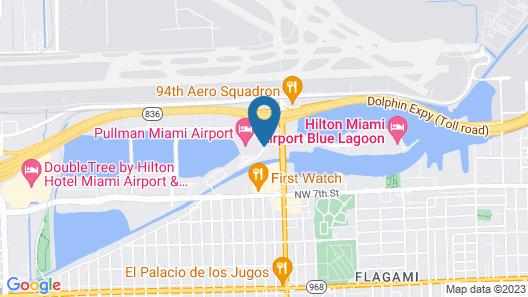 HYATT house Miami Airport Map