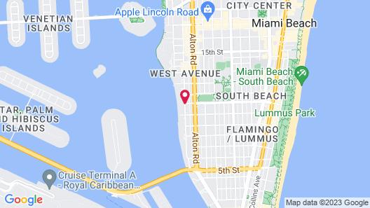 Mondrian South Beach Map