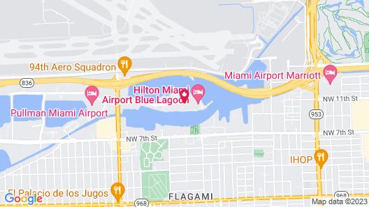 Hilton Miami Airport Blue Lagoon Map