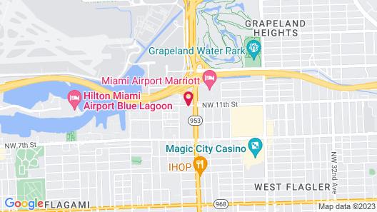 Miami Princess Hotel Map