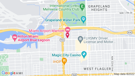 TownePlace Suites by Marriott Miami Airport Map