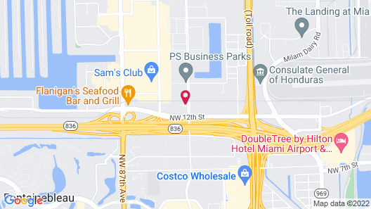 Doral Inn & Suites Miami Airport West Map