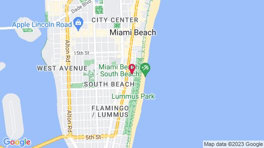 Cardozo Hotel South Beach Map