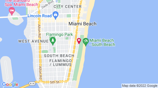 Cavalier Hotel South Beach Map