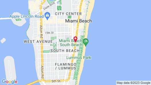 Shepley South Beach Hotel Map