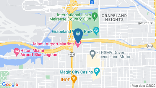 Courtyard by Marriott Miami Airport Map