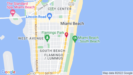 South Beach Plaza Hotel Map