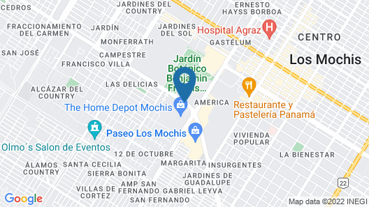 City Express Los Mochis Map