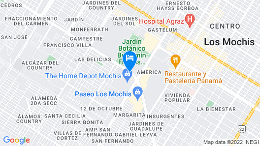 City Express Los Mochis Map