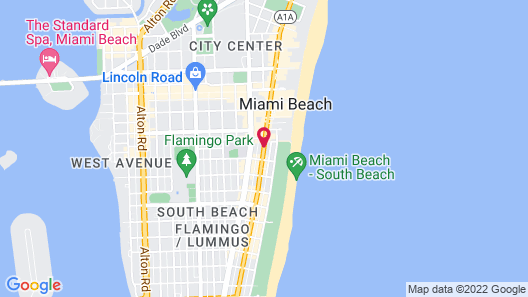 Riviere South Beach Hotel Map