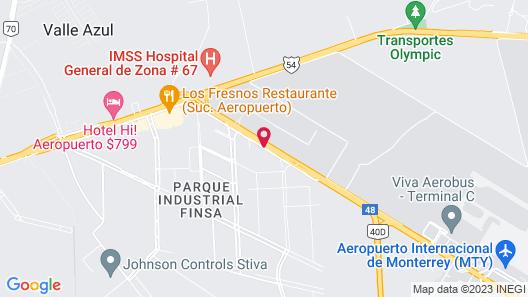 Crowne Plaza Monterrey Aeropuerto Map